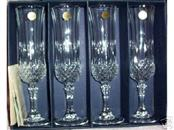 CRISTAL D'ARQUES Glass/Pottery LONGCHAMP CHAMPAGNE GLASS